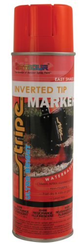 Seymour 20-658 Stripe Inverted Tip Marker, Red/Orange Fluorescent