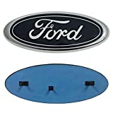 "Automotive : Carhome01 Front Grille Tailgate Emblem for Ford, Oval 9""X3.5"" 2004-2014 F150 Black Decal Badge Nameplate Also Fits for 04-14 F250 F350, 11-14 Edge, 11-16 Explorer, 06-11 Ranger (Update)"