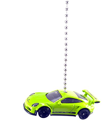 Hot Wheels Porsche Ceiling Fan Light Chain Pull Ornaments (Porsche 911 GT3 RS - Green)