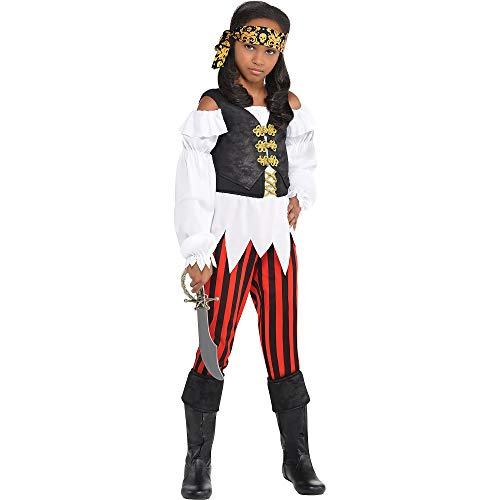 amscan Pirate Costume | Pretty Scoundrel | Medium (8-10) -