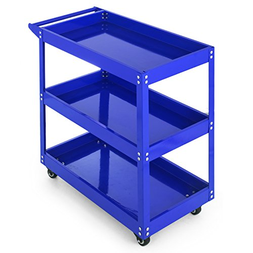Popsport 3-Tier Tool 103A Utility Tub Cart, A Blue
