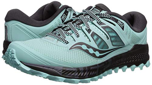 Saucony Women's Peregrine ISO Trail Running Shoe, Aqua/Grey, 6.5 M US by Saucony (Image #6)