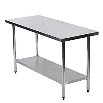 Amazoncom Mr Direct Stainless Steel Work Table Commercial Kitchen - 24 x 48 stainless steel work table