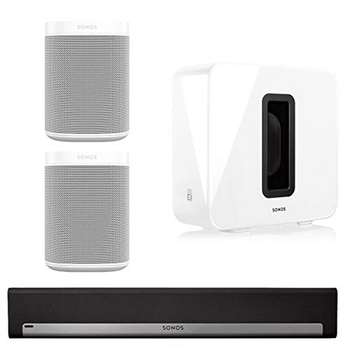 Sonos 5.1 Surround Set - Home Theater System with Playbar, Sub and 2 Sonos Ones (Epic 5-1 Surround Sound Home Theater System)