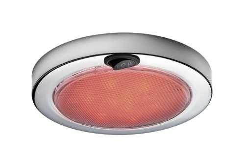 Aqua Signal 5 1/2-Inch 12-Volt LED Dome Light with Switch for Red\Warm White Light (Stainless Steel)