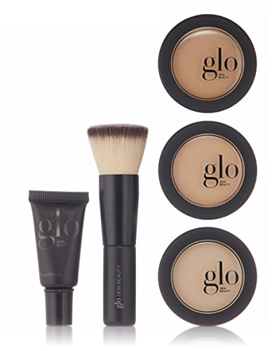 Glo Skin Beauty 5-Piece Powder Foundation Kit in Golden | 4 Shades, Travel Minis | Mineral Makeup Set, Meet Your Match