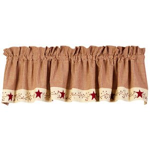 Stars And Berries Country Valance