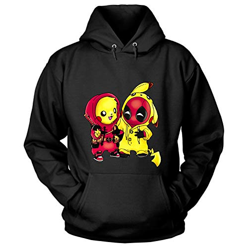Pikachu Pool Ninja T Shirt, Pikachu Deadpool T Shirt - Hoodie (XL, Black) -