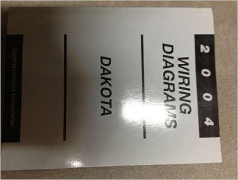 2004 dodge dakota truck electrical wiring diagrams service shop repair  manual paperback – 2004