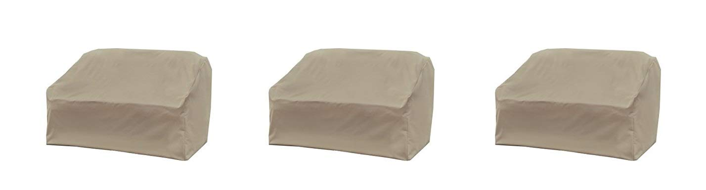 Modern Leisure Love Seat Cover, Weather & Waterproof Love Seat Cover (Pack of 3)