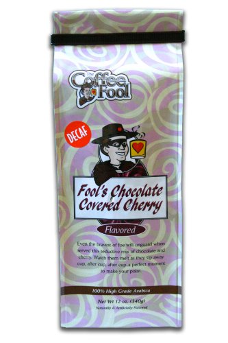 The Coffee Fool French Press, Fool's Decaf Chocolate Covered Cherry, 12 Ounce (Coffee Fool Decaf Whole Bean compare prices)