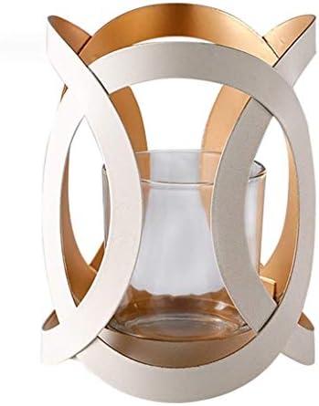 AJJZX 表センターピース、近代/現代スタイル、はめあいのための真鍮仕上げ、高さ、ローソク足の燭台、テーパーキャンドルホルダーセット (Size : 24cm)