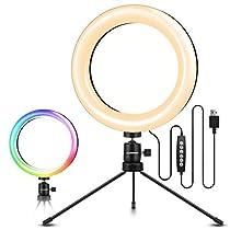 LEDリングライト ELEGIANT RGB 10色10段階調光モード 高輝度...