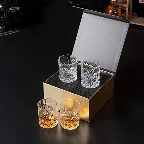 KANARS Double Old Fashioned Whiskey Glasses With Luxury Gift Box - Rocks Barware For Scotch, Bourbon and Cocktail Drinks - Set of 4 by KANARS (Image #9)