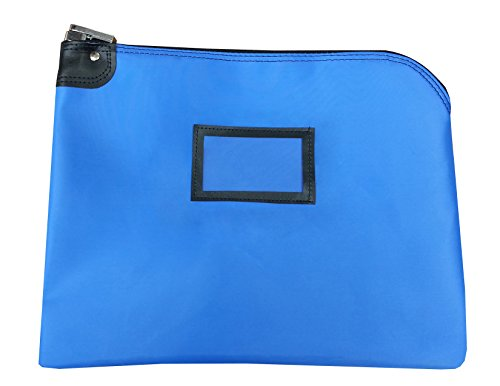 Locking Document HIPAA Bag 15 x 19 | Medical File Security | Legal Size Records Courier Bag (Royal (Blue Medical Records)