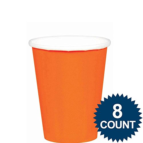 Pack Of 8 Cups - Orange Peel - Goblets