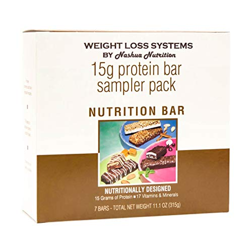 (Weight Loss Systems Protein Bar - 15 Gram Sampler Pack - High Protein - Low Fat - Trans Fat Free)