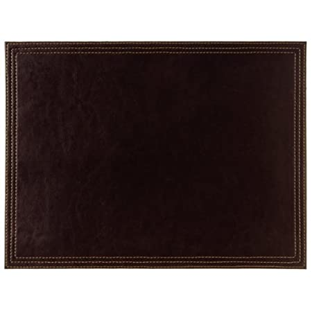 Artikle Leather Corporate aux Leather Large Placemat 400X300mm Brown Table Coasters Restaurant