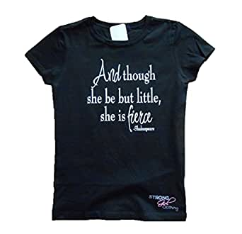 Amazon.com: Strong Girl Clothing Kids Though She Be But ...