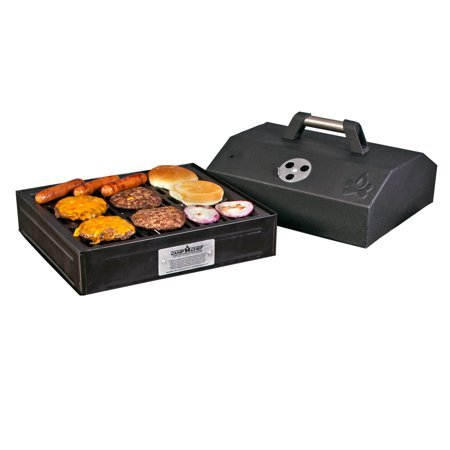 Camp Chef Barbecue Box with Seasoned Cast Iron Grate by