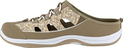 Easy Street Womens Barbara Leather Closed Toe Casual, Beige Floral, Size 12.0