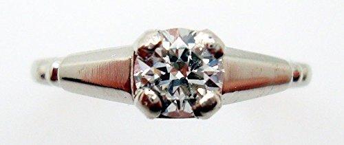 Platinum .36ct Genuine Natural Diamond Ring (#847)