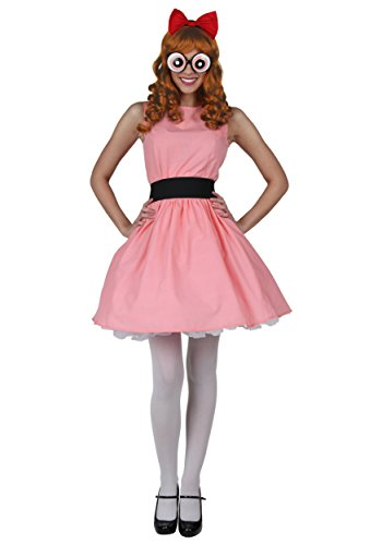 Plus Blossom Powerpuff Girl Costume 1X Pink]()