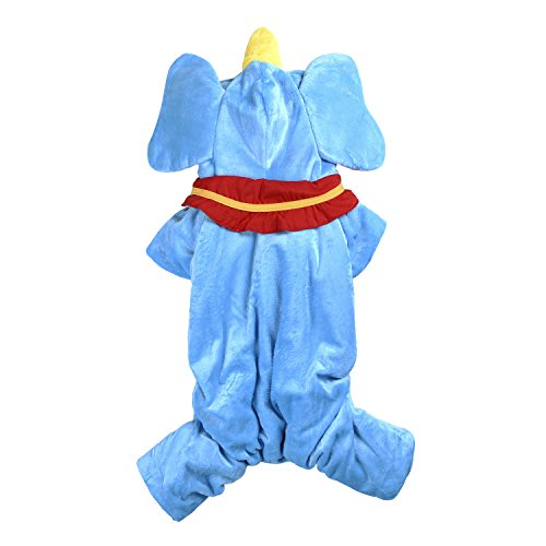 Woo Woo Pets Cute Elephant Shaped Festival Clothes Four Legs Halloween Cosplay Costumes Apparel for Pets S