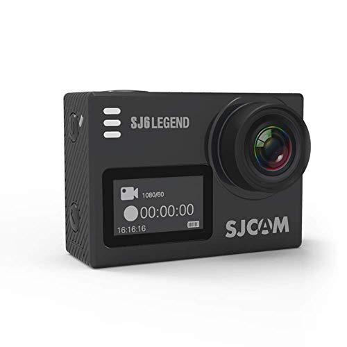 SJCAM SJ6 Legend 16 MP 4K 24fps 2.0″ LCD Touch Screen Action Camera | Gyro Sensor | External Mic Support | Dual Screen (Black)