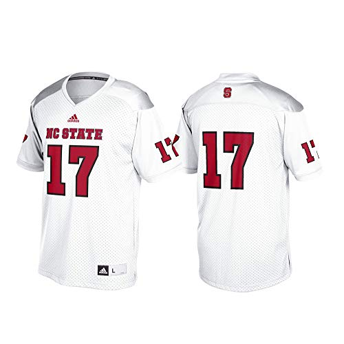 (adidas NC State Wolfpack NCAA Men's White #17 Official Football Replica Jersey (2XL) )