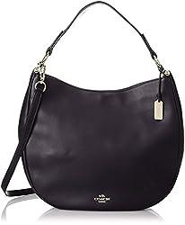 COACH Women's Natural Calf Nomad Hobo LI/Navy Handbag