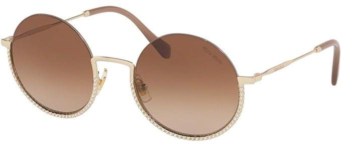 Miu Miu Gafas de Sol SMU 69U Pale Gold/Brown Shaded Mujer ...