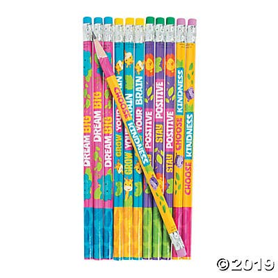 2 Dozen (24) Jungle Animal Positive Message PENCILS ~ Choose Kindness - Dream Big - Motivational Messages - Teacher Classroom School Supplies Religious Education VBS Party Favors