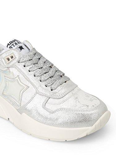 Stars Venusacsn12 Argento Sneakers Donna Atlantic Pelle Fzq4Sqx
