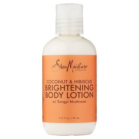 Shea Moisture Coconut & Hibiscus Illuminating  Body Lotion 3.2 Fl oz - Illuminating Body Moisturizer Lotion