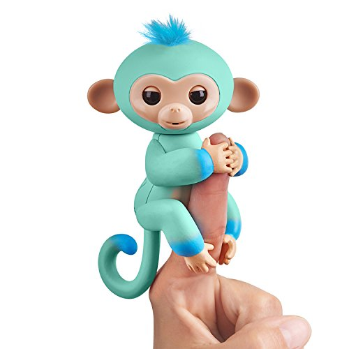 Fingerlings 2Tone Monkey - Eddie (Seafoam Green with Blue Accents) - Interactive Baby Pet ()