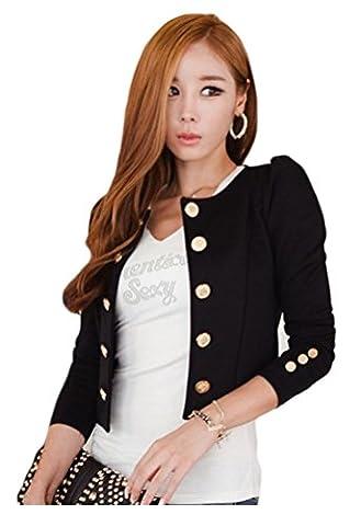 Locry Women Slim Fit Work Office Long Sleeve Blazer Jacket Coat (Office Coat)