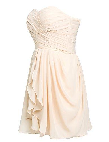 Sarahbridal Damen Mini Chiffon Ballkleid Herzenform Abendkleider Faltenrock Abschlussballkleider SSD247 Himmelblau EU58 rGTnHm5