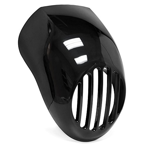 Krator Headlight Fairing Custom Prison Grill Black Cafe Visor Bracket For Harley Davidson Sportster