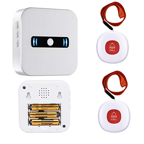 Daytech Wireless Portable Caregiver Pager/Emergency Call Button Bell/Panic Alarm System/Personal Calling Alert Help…