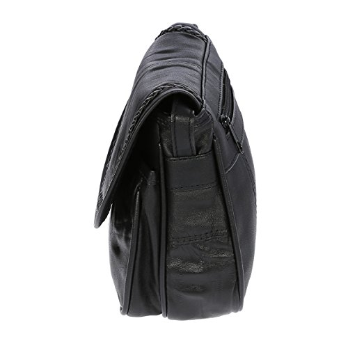 Bag Street - Bolso de hombro Niñas Mujer Schwarz (18x16 cm)