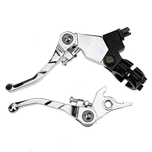 "7/8"" Folding Clutch Brake Lever handle for Apollo Xmotos KAYO BSE Thumpstar 70cc 110cc 125cc Chinese Pit Dirt Bike Parts Motorcycle Silver"