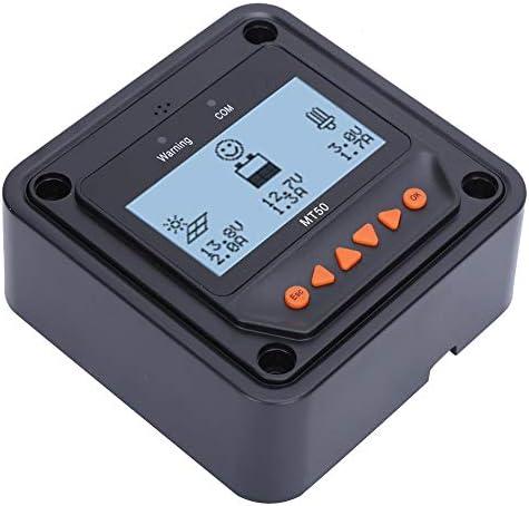 Cikonielf Solarpanel Regler, Solar Laderegler Automatische Erkennung Multifunktions-LCD Echtzeitdaten Überwachung, LCD-Messgerät MT50, Kabellänge: 2m 356 g.