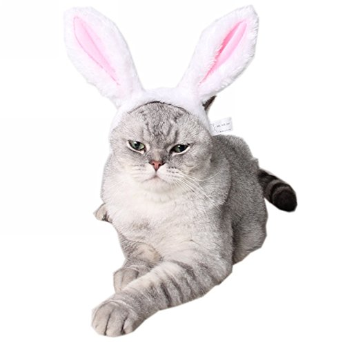 ZTL Cute Rabbit Bunny Ears Headband for Dog Cat Pet Halloween Christmas Party Costume Accessories