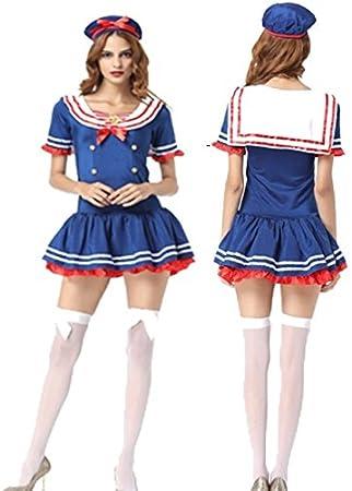 Disfraz de marinero azul para mujer, disfraz de Halloween ...