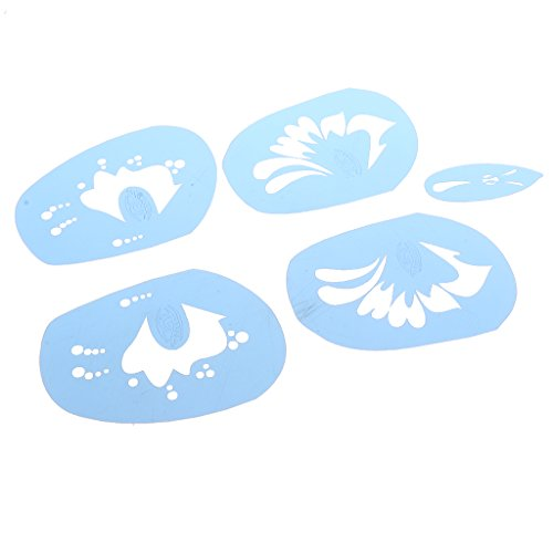 Airbrush Makeup Stencil (MagiDeal 1 Set Plastic Face Painting Body Art Stencil Template for Stage COSPLAY Makeup - B)
