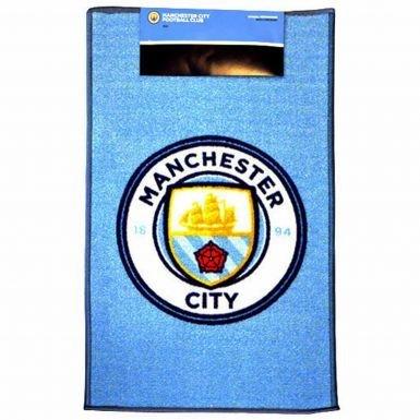 Official Manchester City Crest Floor Rug (50cm x 80cm)