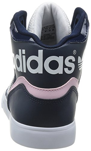 adidas Extaball W, Zapatillas de Deporte para Mujer, Gris, XX Azul / Blanco / Rosa (Maruni / Ftwbla / Roscla)