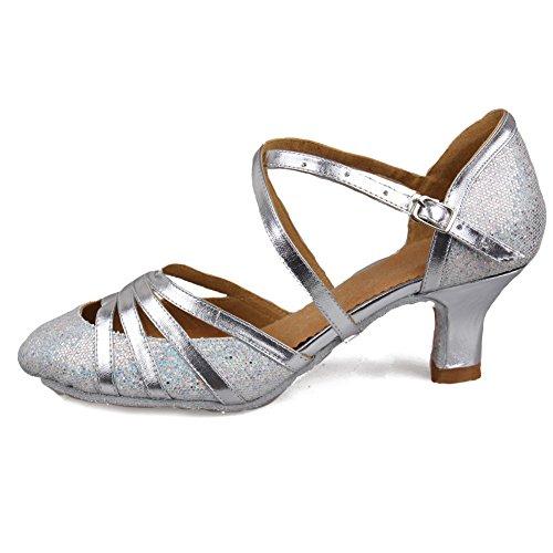 Scarpe Standard Argento paillettes Ballo Da Itcmj51 52 Donna Latino scarpe Ballo Hipposeus Modello TF4dwq4