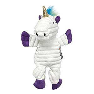 FOUFIT 85662 Rainbow Bright Knotted Toy for Dogs, Unicorn, Small, 10″